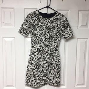 2/$10 Dark Grey and White Print Dress